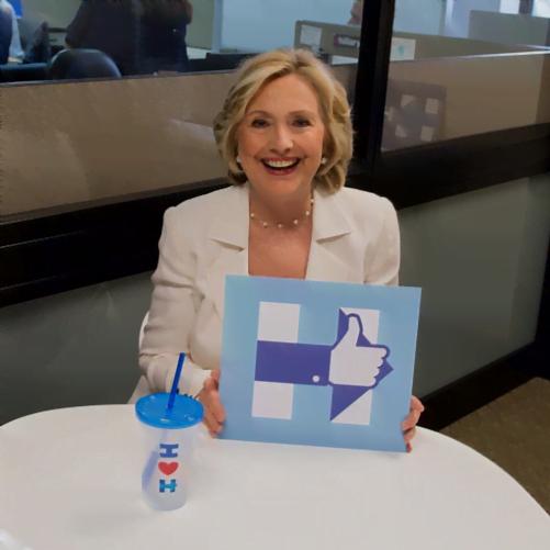 Internet głosuje na Hillary