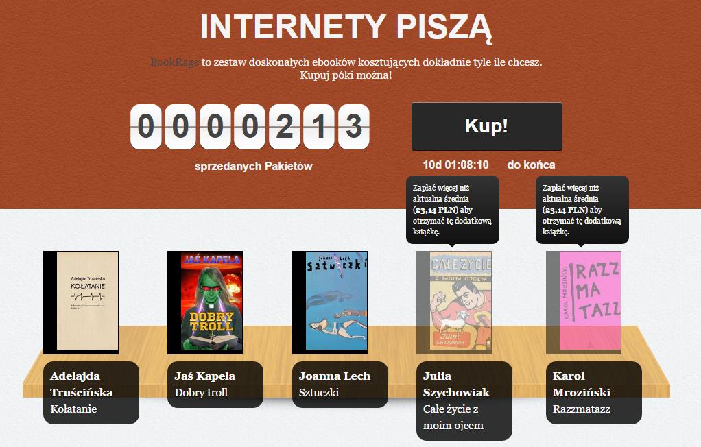Internety piszą - kolejny pakiet e-bookowy od BookRage