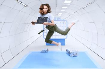 Maja Kuczyńska - podczas nagrania reklama google