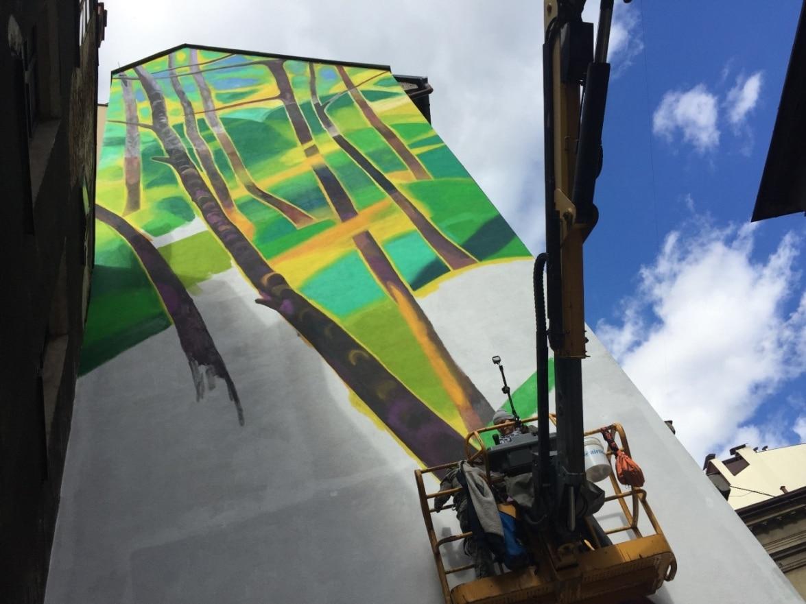 Antysmogowy mural