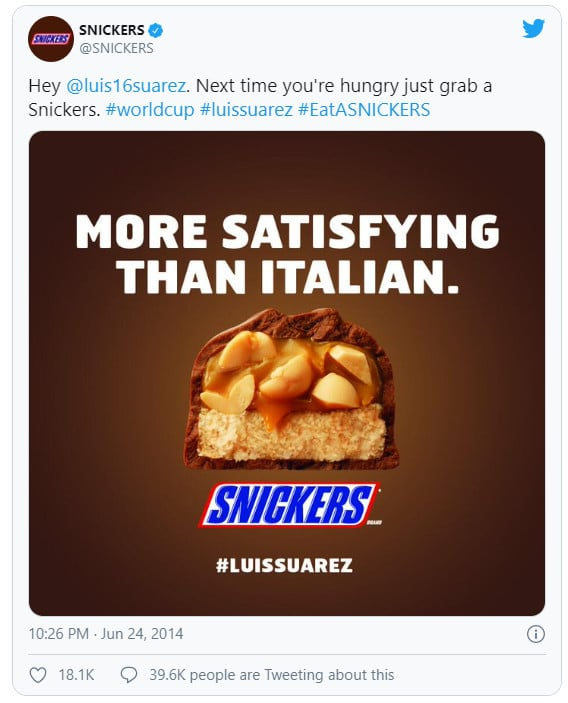 snickers real time marketing